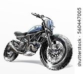 off road motorcycle poster... | Shutterstock . vector #560447005