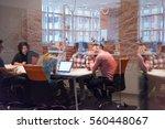 multiethnic startup business... | Shutterstock . vector #560448067