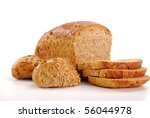 Composition with bread and rolls - stock photo