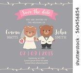 cute bear couple cartoon...   Shutterstock .eps vector #560456854