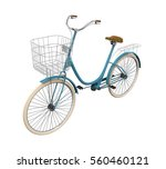 vintage bicycle isolated. 3d...   Shutterstock . vector #560460121