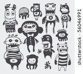Funny Characters Set. Vector...