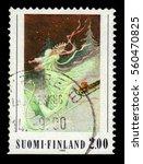 finland   circa 1990  a stamp... | Shutterstock . vector #560470825