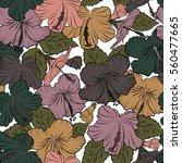 vector of hawaiian aloha shirt... | Shutterstock .eps vector #560477665