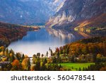 aerial view of bohinj lake in... | Shutterstock . vector #560478541