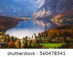 aerial view of bohinj lake in... | Shutterstock . vector #560478541