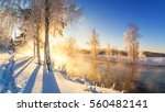Spring Morning Landscape With...