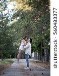couple in love having fun in... | Shutterstock . vector #560483377