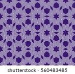 decorative floral geometric... | Shutterstock . vector #560483485