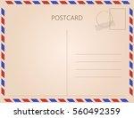vintage postcard. vector...   Shutterstock .eps vector #560492359