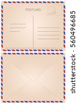 front and back of letter and... | Shutterstock .eps vector #560496685