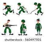 vector illustration of a six... | Shutterstock .eps vector #560497501