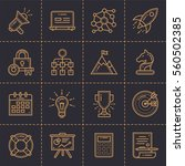 line icons for startup business ... | Shutterstock .eps vector #560502385