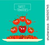 the composition of fresh... | Shutterstock .eps vector #560505745