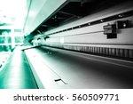 large format printer roll. | Shutterstock . vector #560509771