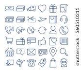 e commerce thin line  icons set | Shutterstock .eps vector #560510215