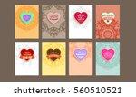 wedding invitation card or... | Shutterstock .eps vector #560510521