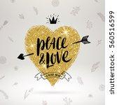 valentine's day hand drawn... | Shutterstock .eps vector #560516599