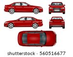 red sport car vector template.... | Shutterstock .eps vector #560516677