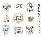 valentine's day hand drawn... | Shutterstock .eps vector #560517007