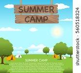 summer camp vector illustration   Shutterstock .eps vector #560518324