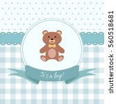 baby boy shower or arrival card ... | Shutterstock .eps vector #560518681