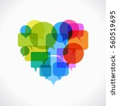 heart design. set of colored... | Shutterstock .eps vector #560519695