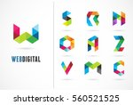 creative  digital letter... | Shutterstock .eps vector #560521525
