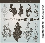 vector set  swirls | Shutterstock .eps vector #56053192