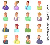 different people icons set.... | Shutterstock . vector #560532295