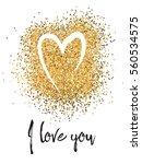 valentines day glitter card... | Shutterstock .eps vector #560534575
