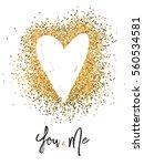 valentines day glitter card... | Shutterstock .eps vector #560534581
