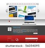 webdesign vector template   Shutterstock .eps vector #56054095