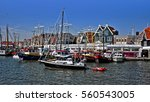 Fisherman Boats And Pier In...