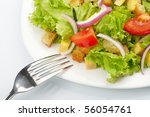 salad on white plate