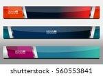 business banner for web  vector ... | Shutterstock .eps vector #560553841