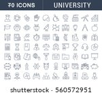 set vector line icons  sign and ... | Shutterstock .eps vector #560572951