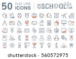 set vector line icons  sign and ... | Shutterstock .eps vector #560572975