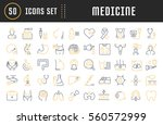 set vector line icons  sign in... | Shutterstock .eps vector #560572999