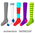 football socks. flat vector... | Shutterstock .eps vector #560582269