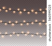 illuminated garlands christmas...   Shutterstock .eps vector #560599225