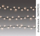 lights string elements isolated ... | Shutterstock .eps vector #560599231