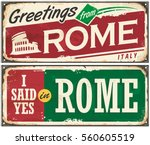 Rome Italy Retro Post Card Ide...