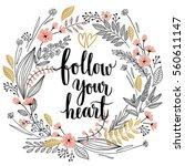 valentine s day callygraphic... | Shutterstock .eps vector #560611147