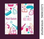 nail salon vector banners... | Shutterstock .eps vector #560613271
