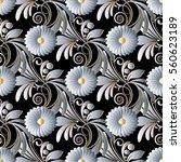 elegant floral seamless pattern ... | Shutterstock .eps vector #560623189