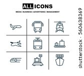 set of 9 delivery icons.... | Shutterstock .eps vector #560638369