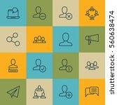 set of 16 social icons.... | Shutterstock .eps vector #560638474
