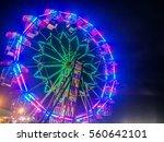 Ferris Wheel At Night In...