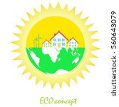 concept of eco friendly and... | Shutterstock .eps vector #560643079